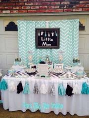 Little Man 1st Birthday Decorations Grey And Aqua First Birthday Party Ideas And Inspiration