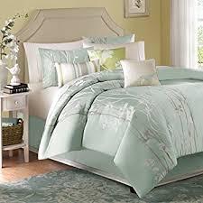 green bed set amazon com madison park athena 7 piece jacquard comforter set