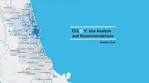divvy bike map divvy bike use data analysis and recommendations tableau