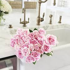 Rachel Parcell Home Kitchen Farmhouse Sink Rachel Parcell Pink Peonies