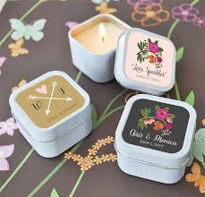 country wedding favors floral wedding favors mini candle party favors country wedding