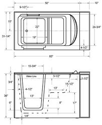 Deep Bathtubs Standard Size Walk In Bath Tubs