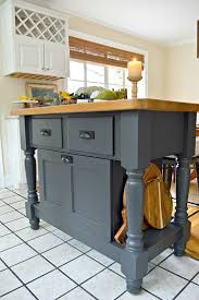 easy kitchen island an easy kitchen island makeover wrought iron paint from