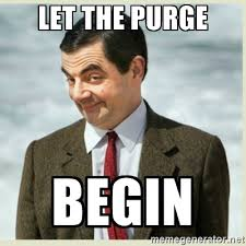 Purge Meme - facebook bot purge today the free for all lounge mp social