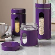 purple canister set kitchen okay another purple canister set that i bought these
