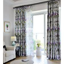 Lavender Blackout Curtains by Style Purple Flowers Printed Blackout Curtains
