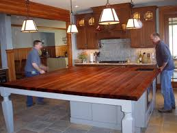 Kitchen Island Chopping Block with Edge Grain Wood Countertops Brooks Custom
