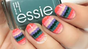 cute spring scalloped nail art easy for beginners youtube