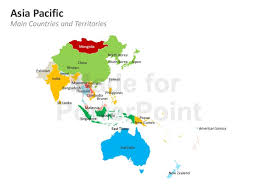 asia pacific map editable powerpoint template