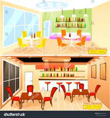 vector illustration luxury bistro restaurant bar stock vector