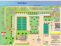 snake river koa campground site map yellowstone trip pinterest