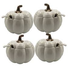 Pumpkin Soup Tureen And Bowls by Amazon Com Better Homes And Gardens Off White Figural