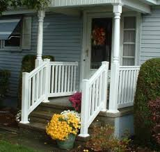 Porch Steps Handrail Exterior Fair Picture Of Front Porch Decoration Using Black Iron