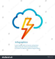 royalty free lightning bolt weather flat line icon u2026 188929586