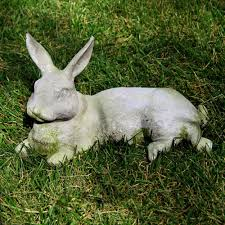 resin rabbit garden statue home outdoor decoration