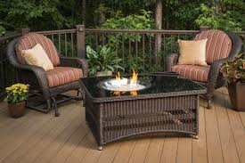 outdoor greatroom company fire pit table set in tuscan style