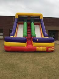 dual lane inflatable slide