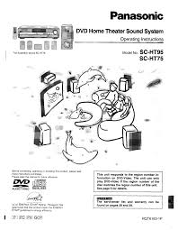 panasonic home theater manual download free pdf for panasonic sc ht75 home theater manual