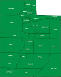 Utah County Map Utah Childhelp Chapters