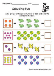 grouping fun worksheets activity sheets for kids children learning