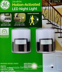 ge led night light ge led ultrabrite night light motion activated 40 lumens soft white