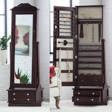 standing mirror jewelry cabinet floor mirror jewelry armoire jukem home design