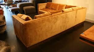 Gold Sectional Sofa Custom Gold Silk Velvet Sectional Sofa Usa 2000 At 1stdibs