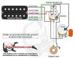 humbucker 1 volume 1tone pull for north single coil