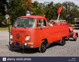 volkswagen truck antique volkswagen kombi fire truck stock photo royalty free