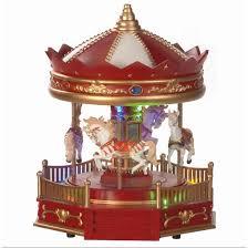 christmas carousel battery powered musical rotating lit christmas carousel