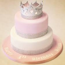 2 tier pink and white princess cake children u0027s birthday cakes