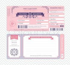 boarding pass invitations boarding pass ticket wedding invitation template stock vector