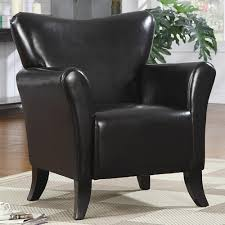 Black Leather Accent Chair Accent Chair Kb Home Furnishing