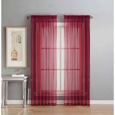 Sheer Maroon Curtains Burgundy Sheer Curtains Drapes Window Treatments The