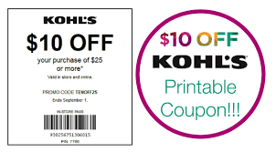 10 25 kohls printable in store coupon