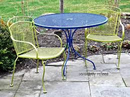 Patio Furniture Round Table by Patio 3 Metal Patio Table Round Iron Patio Table Chairs
