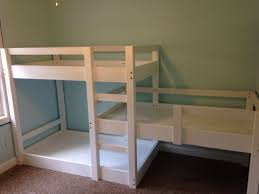 bunk beds diy triple bunk bed plans free ana white minecraft