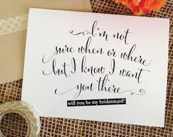 in bridesmaid card bridesmaid card set etsy
