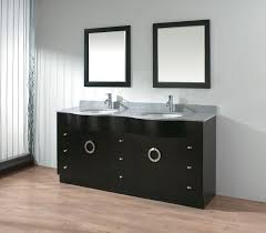 Modern Black Bathroom Vanity Bathroom Plain White Wall Paint Color Background Contrast With