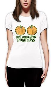 Halloween Costumes Pumpkin Woman Stop Staring Pumpkins Women Shirt Funny Halloween