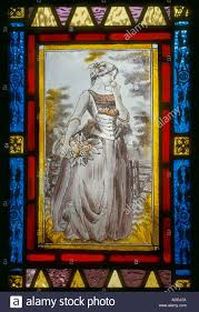 Stained Glass Door Panels decorative stained glass hand painted victorian woman on front