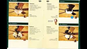 Ceiling Fan Features Hunter Ceiling Fan Catalog From 2004 Youtube