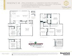 Construction Floor Plans by Terracina At Rancho Tesoro New Home Floor Plans North County New