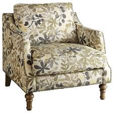 Upholstered Accent Chair Coaster Upholstered Accent Chair Leaf Pattern Traditional