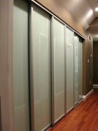 Glass Doors For Closets Reliabilt Mirrored Closet Doors 3 Panel Sliding Interior Door
