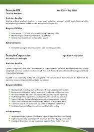resume food service onboarding specialist job description