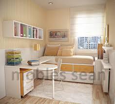 brown patterned blanket small bedroom design grey cream color