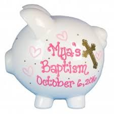 baptism piggy bank baby baptism gifts the baptism piggy bank