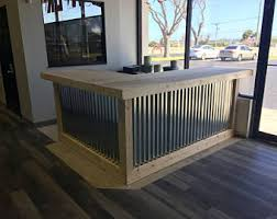 Industrial Style Reception Desk The Plank Pallet Pallet Style Industrial Rustic Bar Great