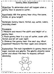 scientific method gummy bear experiment science fair some of